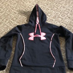 Under Armour black and pink hoodie